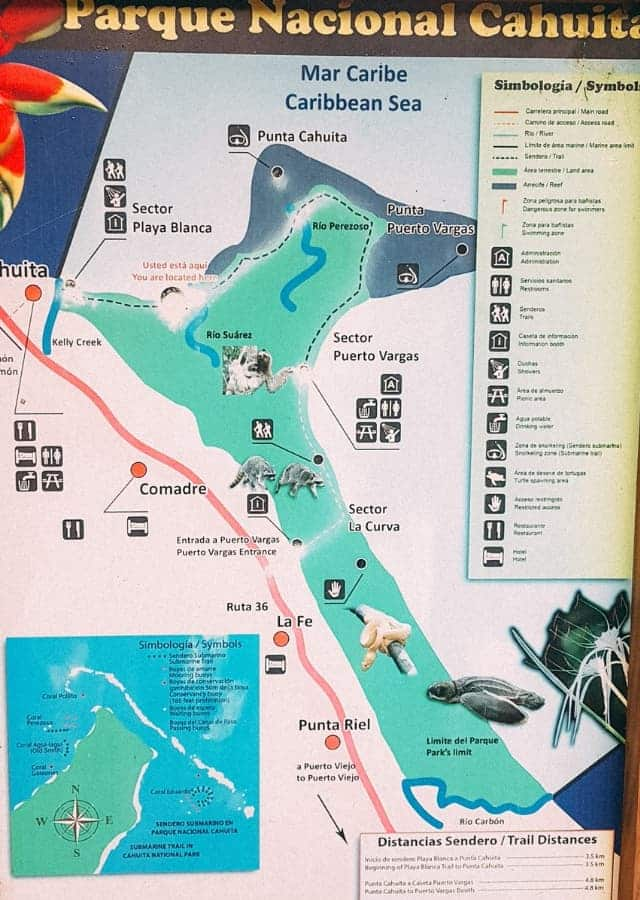 cahuita national park map