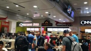 food court San Jose Costa Rica airport