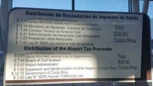 exit taxes San Jose Costa Rica