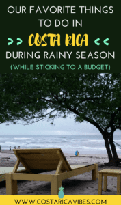 Did you know that the rainy season is actually a great time to visit Costa Rica? THis guide answers all your questions so you can plan a great trip to Costa Rica during green season. #CostaRica #traveltips