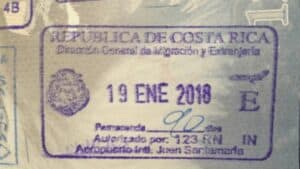 san jose costa rica passport stamp