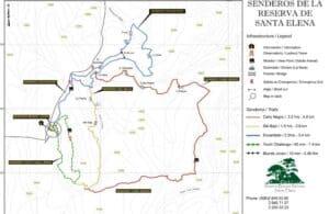 Santa Elena reserve map