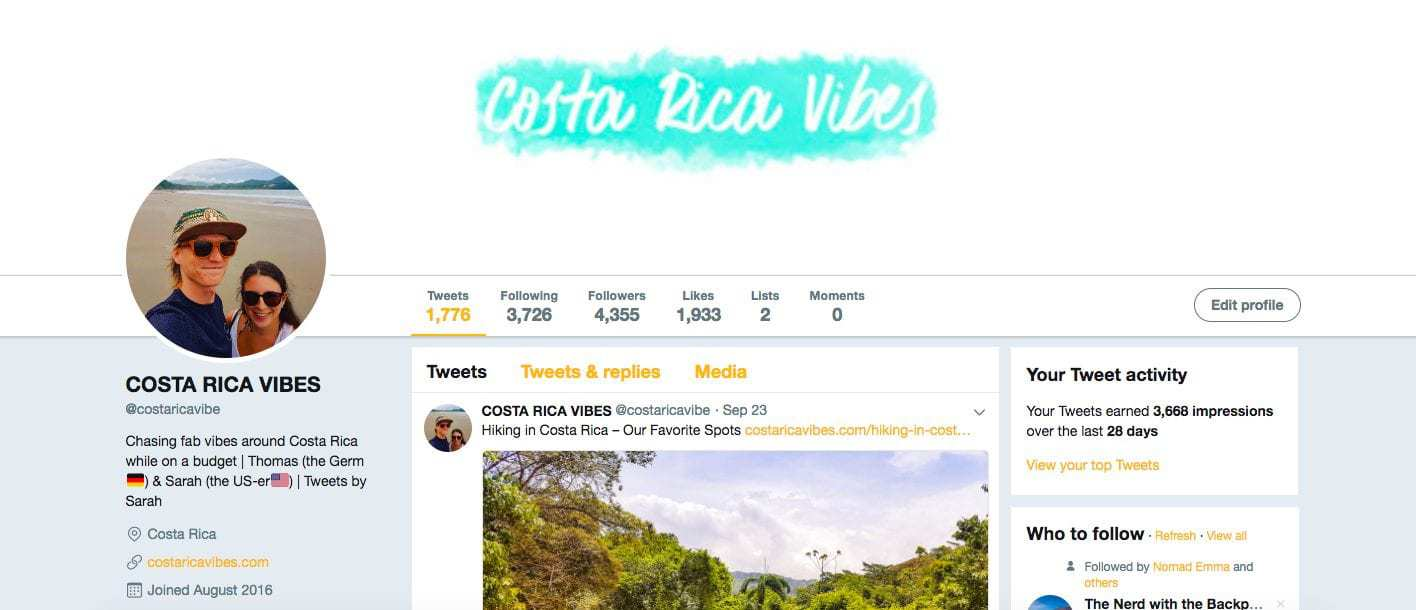 Costa Rica Vibes twitter