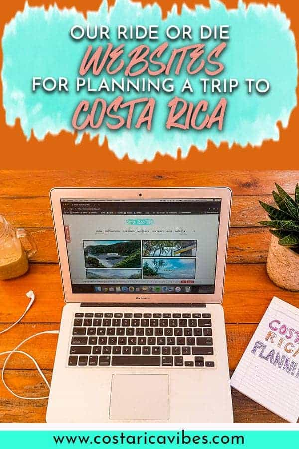 There are a lot of great websites that can help you plan the perfect trip to Costa Rica. Here are our absolute favorites.