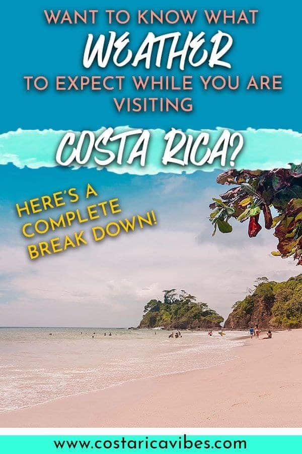 The weather in Costa Rica is different depending on when you visit. There is a green season and a dry season. Find out the best time to visit for your desires. #CostaRica #weather #climate