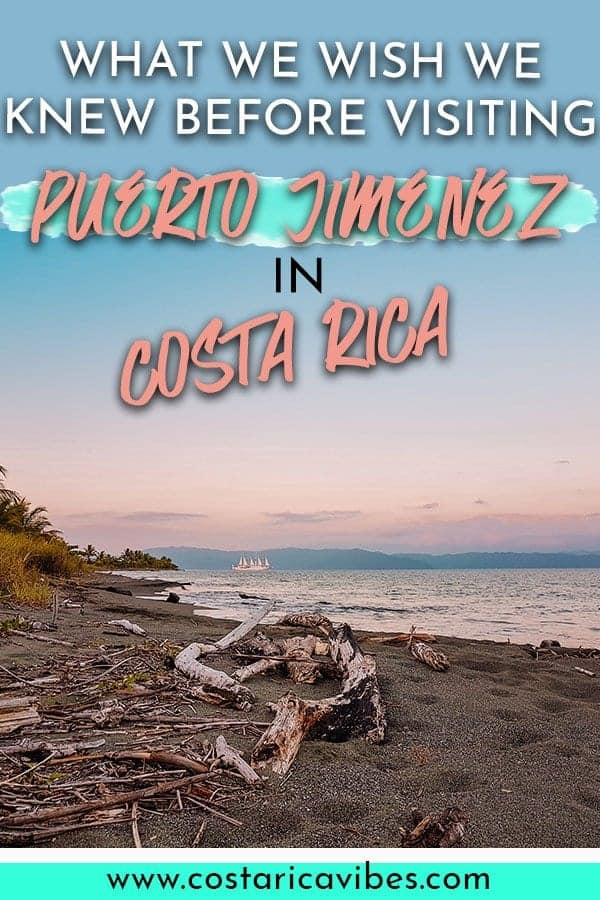 Puerto Jiminez Costa Rica is a great jumping off point for visiting beautiful beaches and hiking in Corcovado National Park. Find out the best Puerto Jimenez hotels, restaurants, things to do, and more! #CostaRica #PuertoJiminez #Corcovado