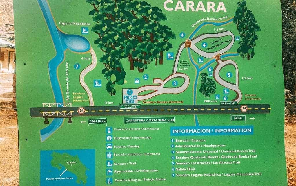 carara map