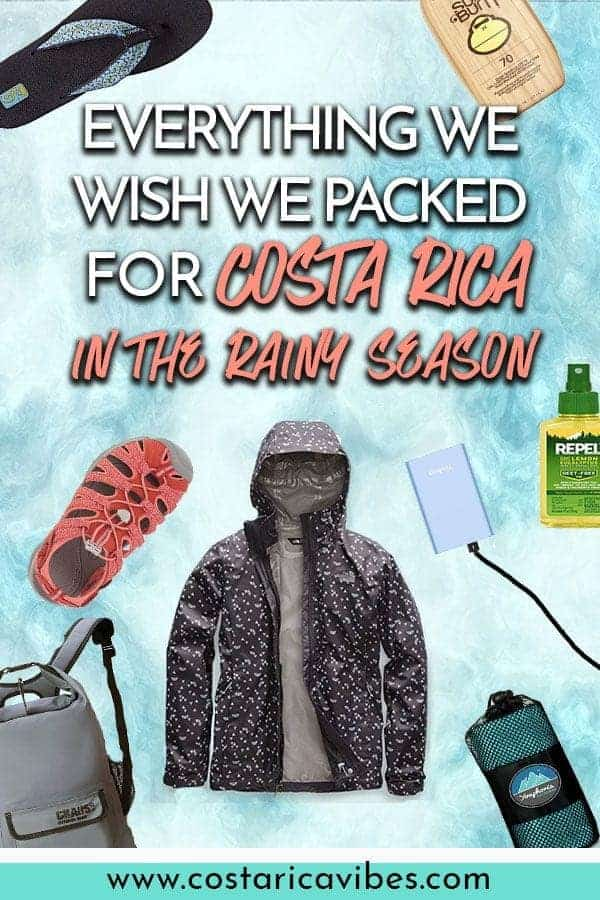Rainy season in Costa Rica does not mean non stop days of bad weather. Instead the weather is usually very pleasant. However, there are some Costa Rica rainy season packing list essentials that you need. #CostaRica #rainyseason #packinglist #PackingGuide