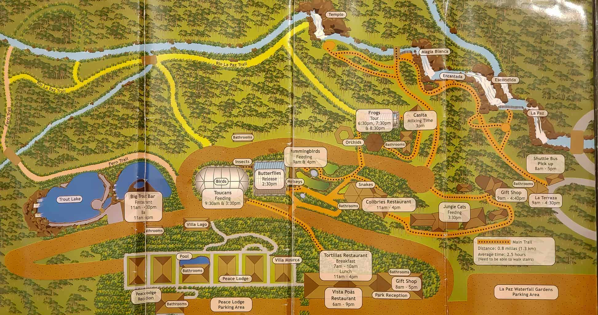 la paz waterfall map