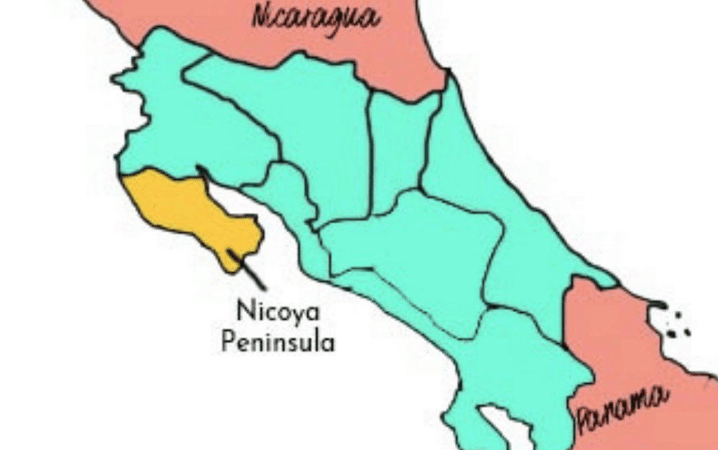nicoya peninsula map