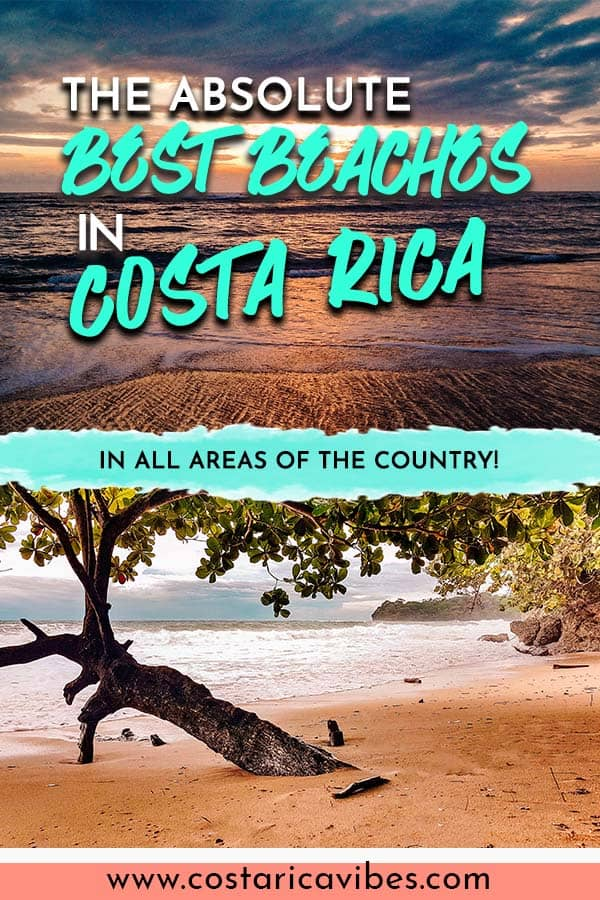 Costa Rica is known for its beautiful beaches on both the Pacific and Caribbean coasts. Find out the most beautiful beaches throughout the country. #CostaRica #beaches