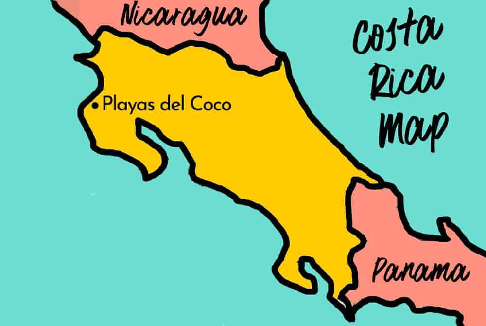 playas del coco map