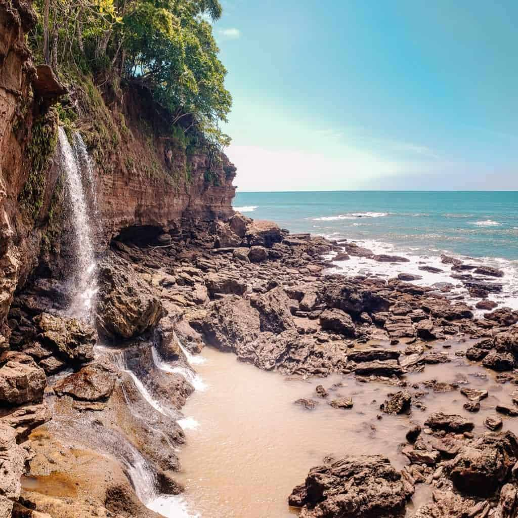 Montezuma beach waterfall