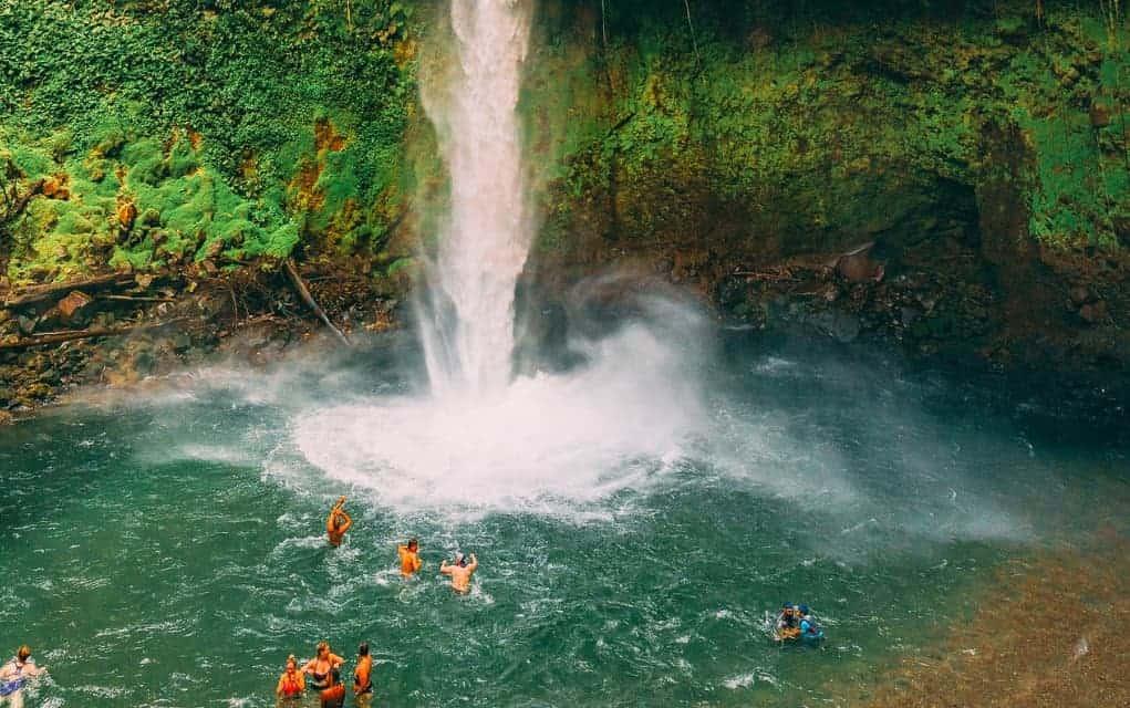 la fortuna waterfall swim