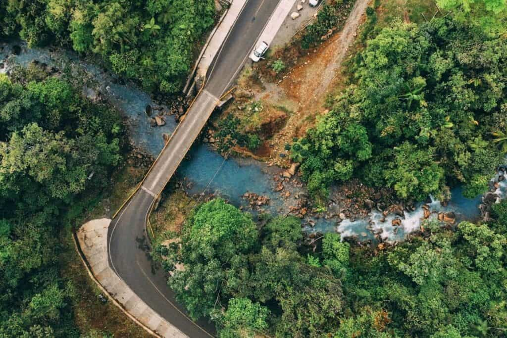 rio celeste from above