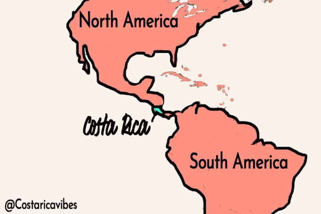 costa rica location map