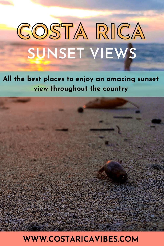 costa rica sunset pin