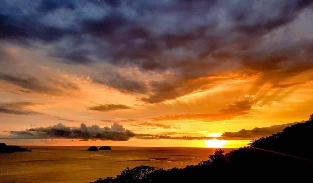 costa rica sunset view