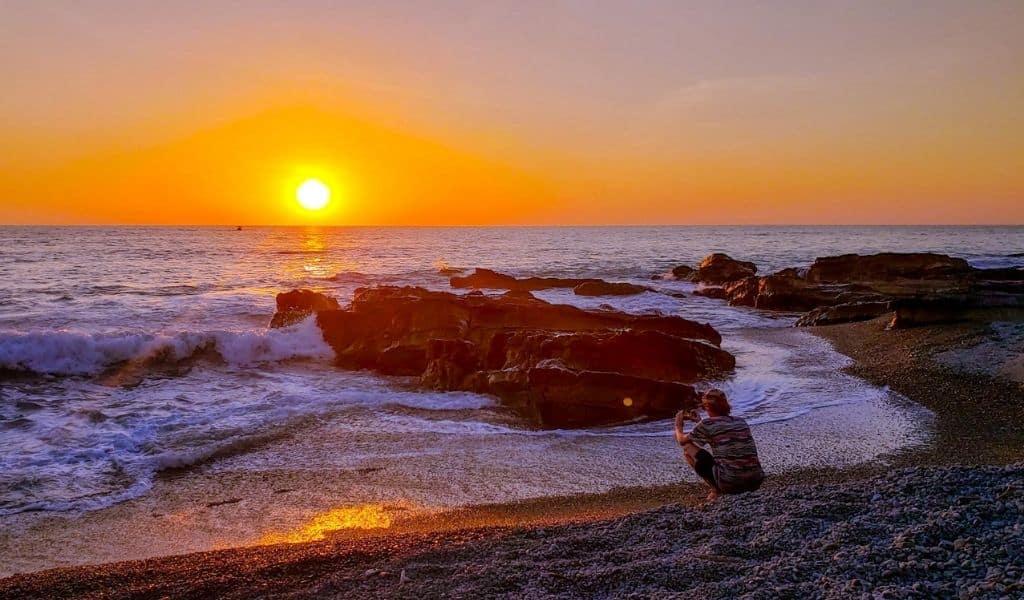 costa rica sunset Santa teresa